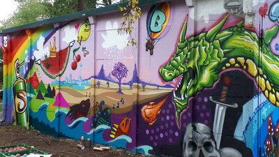 Fotoalbum Graffiti-und Litfaßsäulen- Projekt