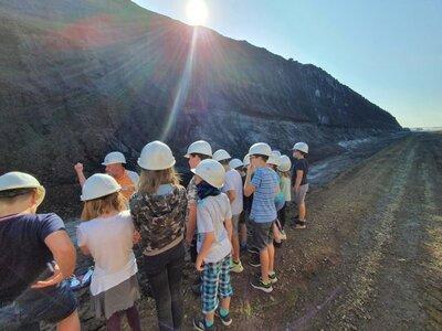 Fotoalbum Wandertag Klasse 5 zum Tagebau Welzow Süd