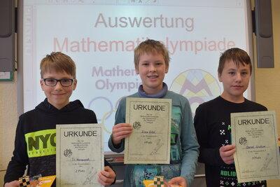 Fotoalbum Sieger der Mathematikolympiade Stufe II