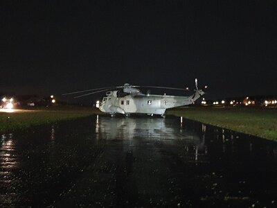 Fotoalbum Inselfeuerwehr sorgt für sichere Hubschrauberlandung