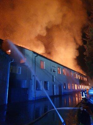 Fotoalbum Brand Industriegebäude Elisenfels
