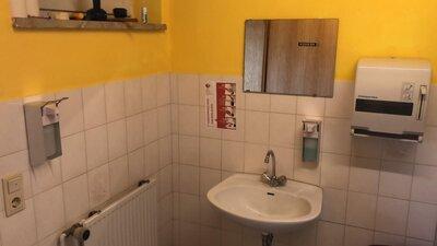 Fotoalbum Hygienemassnahmen im Sportheim