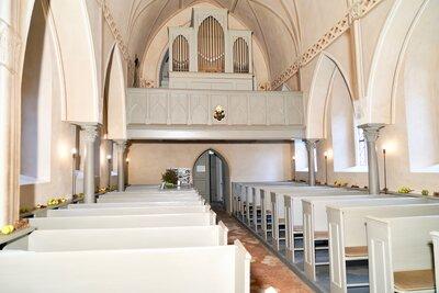 die Orgel in der Paretzer Dorfkirche, Foto: Uwe Steckhan, (C) VHP