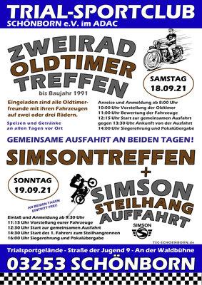 Plakat zum Treffen