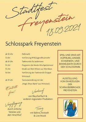 Plakat zum Stadtfest