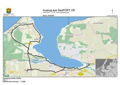 Tourenverlauf Radtour um Ribnitz-Damgarten