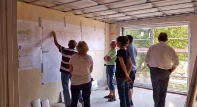 Fotoalbum Seniorengerechtes Wohnen in Zielitz - Gemeinderat informiert sich über Baufortschritt