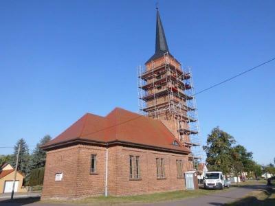 Fotoalbum Bauarbeiten am Rosefelder Kirchturm
