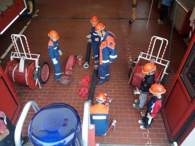 Fotoalbum Ausbildung JF Wasserentnahmestellen offenes Gewässer