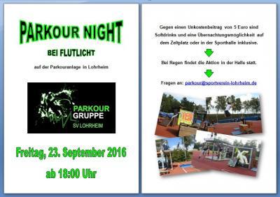 Fotoalbum RÜCKBLICK: Parkour Night Jam 2016
