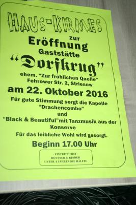 """Fotoalbum Eröffnung des """"Dorfkrugs"""" in Striesow"""