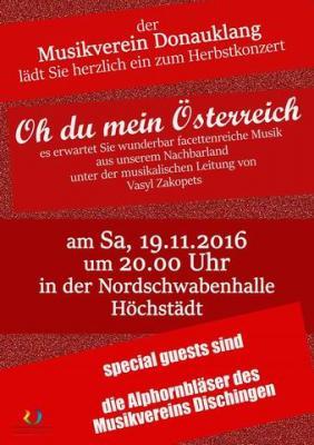 Fotoalbum Herbstkonzert mit den Alphornbläsern des MV Dischingen