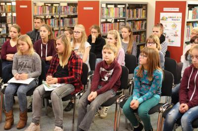 Foto des Albums: Bundesweiter Vorlesetag mit einem Vorlesewettbewerb der Sekundarschule Zielitz (18.11.2016)