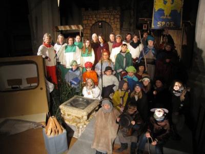 Fotoalbum Bilder der Proben für das Krippenspiel am Heiligen Abend