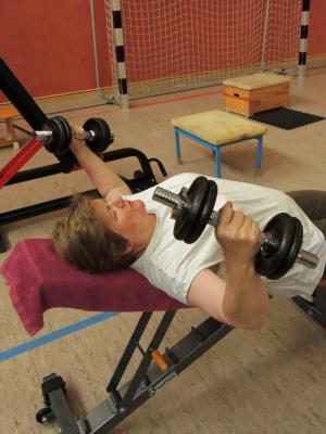 Fotoalbum Kraftsportler beim Training