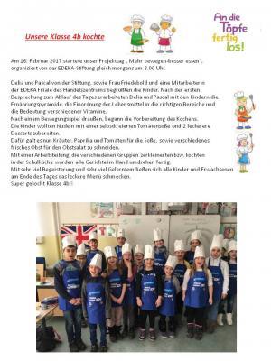 "Fotoalbum Projekttag ""Ernährung"" der Klasse 4b"
