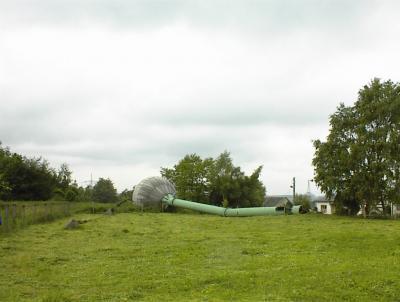 Fotoalbum Wasserturm Liebengrün fällt...