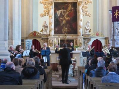 """Fotoalbum """"Blächbläsergruppe Sachsen"""" gibt nach Probenwochenende im Bad Schmiederberger Gemeindehaus ein Konzert in der Stadtkirche"""