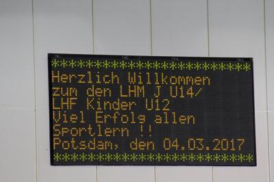 Fotoalbum Landeshallenmeisterschaften in Potsdam (LHM J U14/LHF Kinder U12
