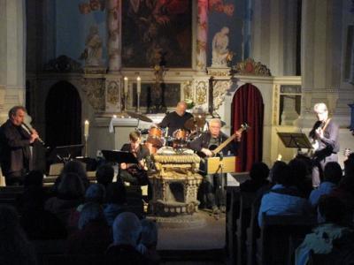 """Fotoalbum """"WHReeds"""" - Jazz aus Lutherstadt Wittenberg in die Kirche hinein gespielt"""