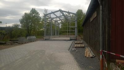 Fotoalbum neue Fahrzeughalle für die FFw Rothesütte