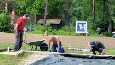 Fotoalbum Sanierung der Beachvolleyballplätze sowie der Leichtathletikanlage im Mai 2017
