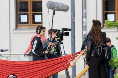 Fotoalbum Filmprojekt der Konfis zum Kirchentag