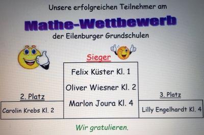 Fotoalbum Mathewettstreit der Grundschulen