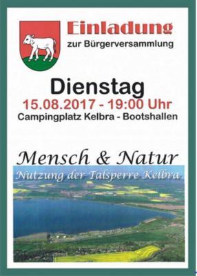 Fotoalbum Bürgerversammlung zur Helme -Talsperre Kelbra