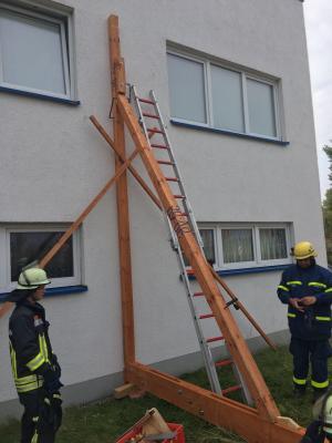 Fotoalbum Ausbildung mit dem Fachdienst Brandschutz