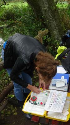 Fotoalbum Wassercamp: Die chemisch-physikalischen Untersuchungen