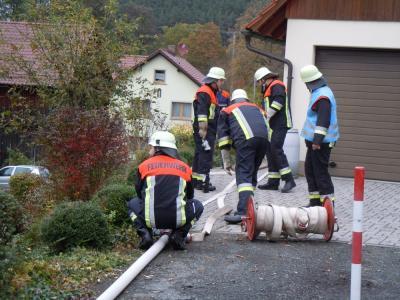 Fotoalbum Alarmübung mit der Patenwehr Schwürbitz
