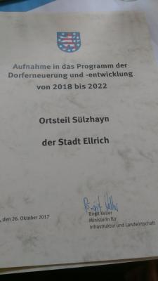 Fotoalbum Sülzhayn im Dorferneuerungsprogramm