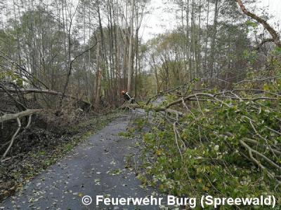 Fotoalbum Dauereinsatz wegen Sturmtief Herwart