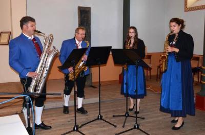 Fotoalbum Saxophonquartet in der Synagoge Binswangen