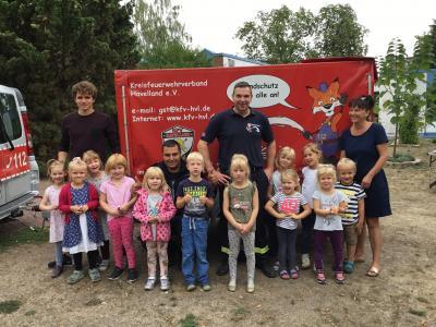 Fotoalbum Die Feuerwehr bei uns zu Besuch