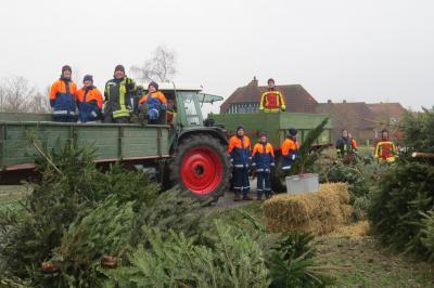 Fotoalbum Weihnachtsbaumverbrennen der JF Seester
