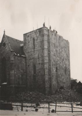 Fotoalbum Abriss der Kirchtürme der St. Johanniskirche in Ellrich
