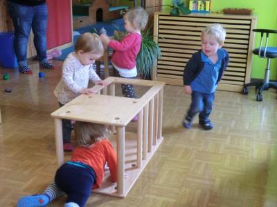 """Fotoalbum Projekt """"Wir bewegen Kitas"""" bei den Krippenkindern 2017 bis 2018"""