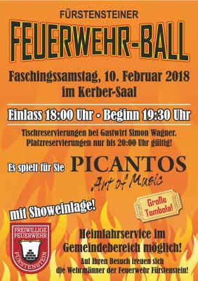 Fotoalbum Feuerwehrball Fürstenstein 2018