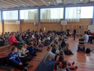 Fotoalbum Das Landespolizeiorchester zu Besuch an unserer Schule