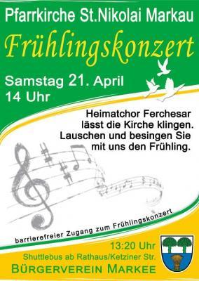 Fotoalbum Frühlingssingen in Markau