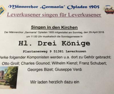 Fotoalbum Leverkusener singen für Leverkusener