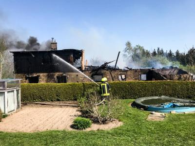 Fotoalbum Großbrand in Brädikow am 20.04.2018