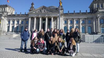 Fotoalbum Exkursion der Klasse 8b zum Bundestag