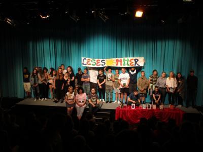 Fotoalbum Eröffnung des Lesesommers XXL mit dem traditionellen Book Slam der siebenten Klassen der Ganztagsschule Zielitz
