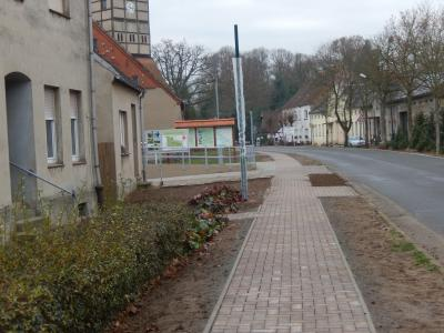 Fotoalbum Gehwegbau in Kletzke