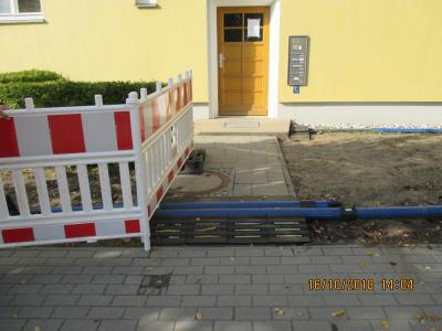 Fotoalbum Ludwigsfelde, Theaterstraße, Erneuerung Trinkwasserleitung