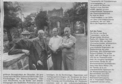 Fotoalbum Artikel in der Wochenpost  1977