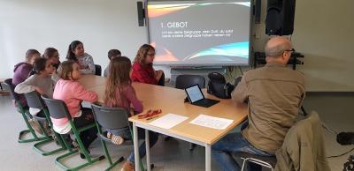 Fotoalbum Beppo Küster schult unsere Schülerradiomoderatoren!